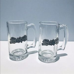 Other - NFL BUD Beer Mugs Set Of 2 Pewter Logo